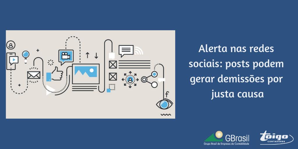 Alerta nas redes sociais: posts podem gerar demissões por justa causa