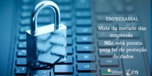 EMPRESARIAL – Mais da metade das empresas não está pronta para lei de proteção de dados